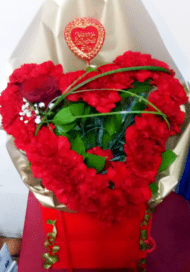 heart shaped red carnation bouquet_order flowers online_flower shop TFS-min