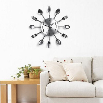 cutlery kitchen decorative-wall-clock-stainless-steel-the-little-flower-shop-gifts-for-all-occasions-florist-london-unique-gifts-online-3