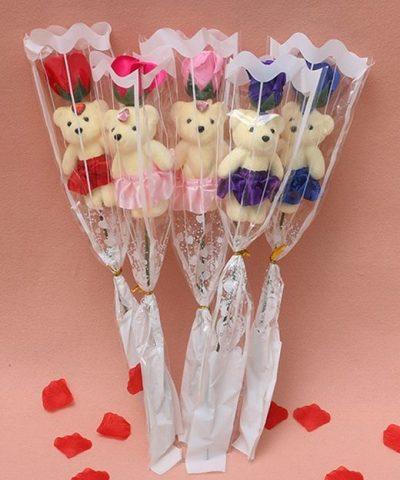 Soap-Rose-flower-teddy-foam-the-little-flower-shop-florist-londonRose-Flower-For-Romantic-Valentines-Day-Creative-Gifts-Mother-s-Day-Artificial-Flower-Bear-Rose