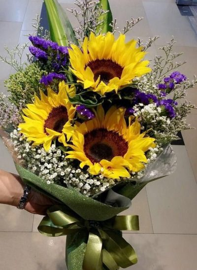 SUNFLOWER-BOUQUET-THE-LITTLE-FLOWER-SHOP-LONDON-FLORIST-LONDON