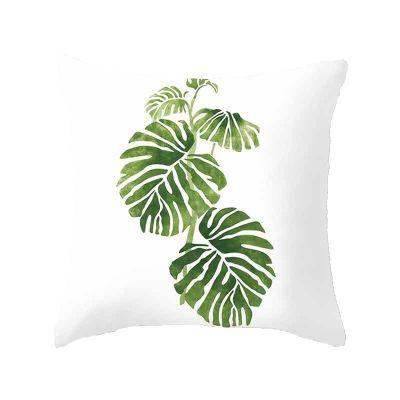 leaf-cushion range-the-little-flower-shop-gift-shop-london-leaf-style-foliage-plant-cushion-furniture-autumn-seasonal-palm-pattern-tropical-jungle-green-simple-minimal