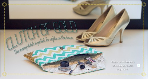 Finish Along Quarter 4 Tutorial Week – Chevron Evening Clutch