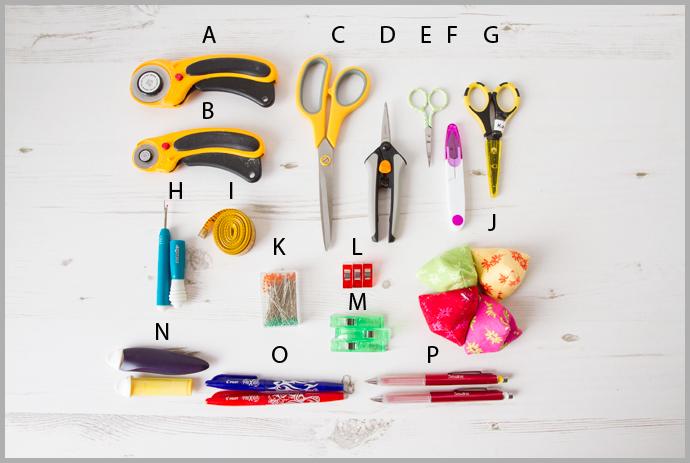 Bag Making Tools Glossary Part 1 – Basic Tools – Bag Making Basics