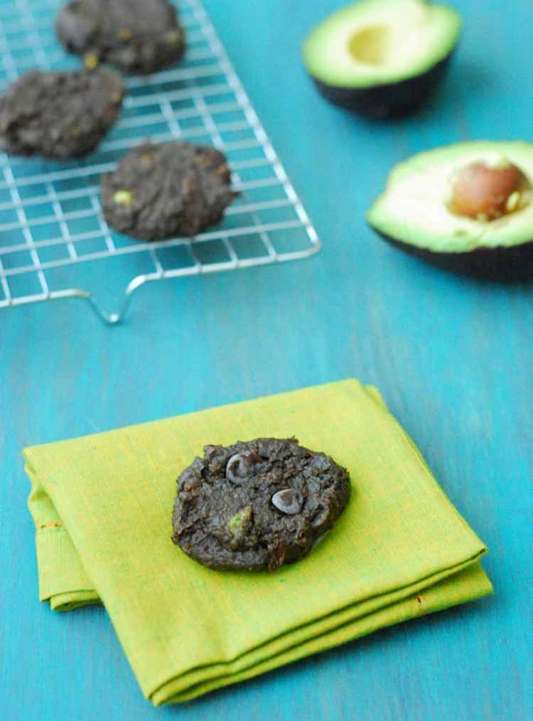 Avocado Chocolate Cookies - Rich, chocolaty, and perfectly chewy. You would never guess these cookies are low carb, sugar free and vegan!