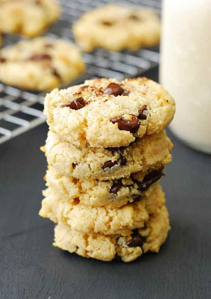 The Best Low Carb Chocolate Chip Cookies - Soft, chewy, thick and you won't even be able to tell the difference.