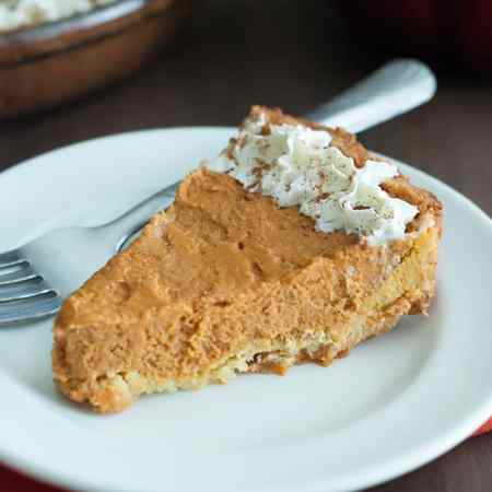 Low Carb Pumpkin Pie - Absolutely delicious and perfect for Fall!