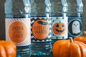 Ghostly Cocktail + Free Printable Dasani Bottle Wrappers