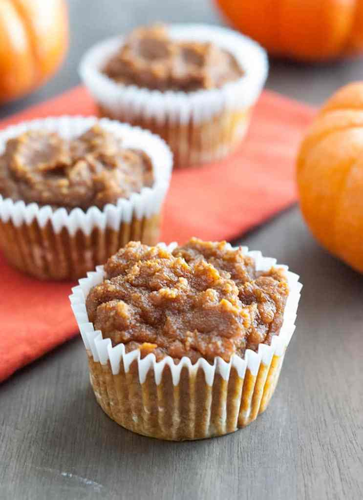 Healthy & Delicious Pumpkin Muffins - these are the easiest and tastiest low carb friendly pumpkin muffins ever.