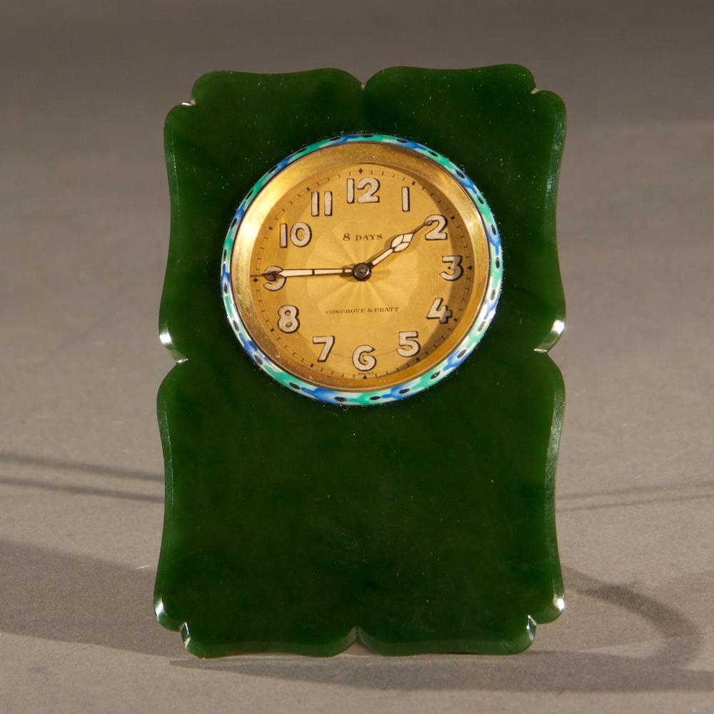 Jade Table Clock Manhattan Art And Antiques Center
