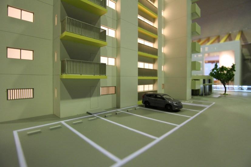 ザ・マークス南通 1/60模型(ロードヒーティング仕様 平面駐車場)