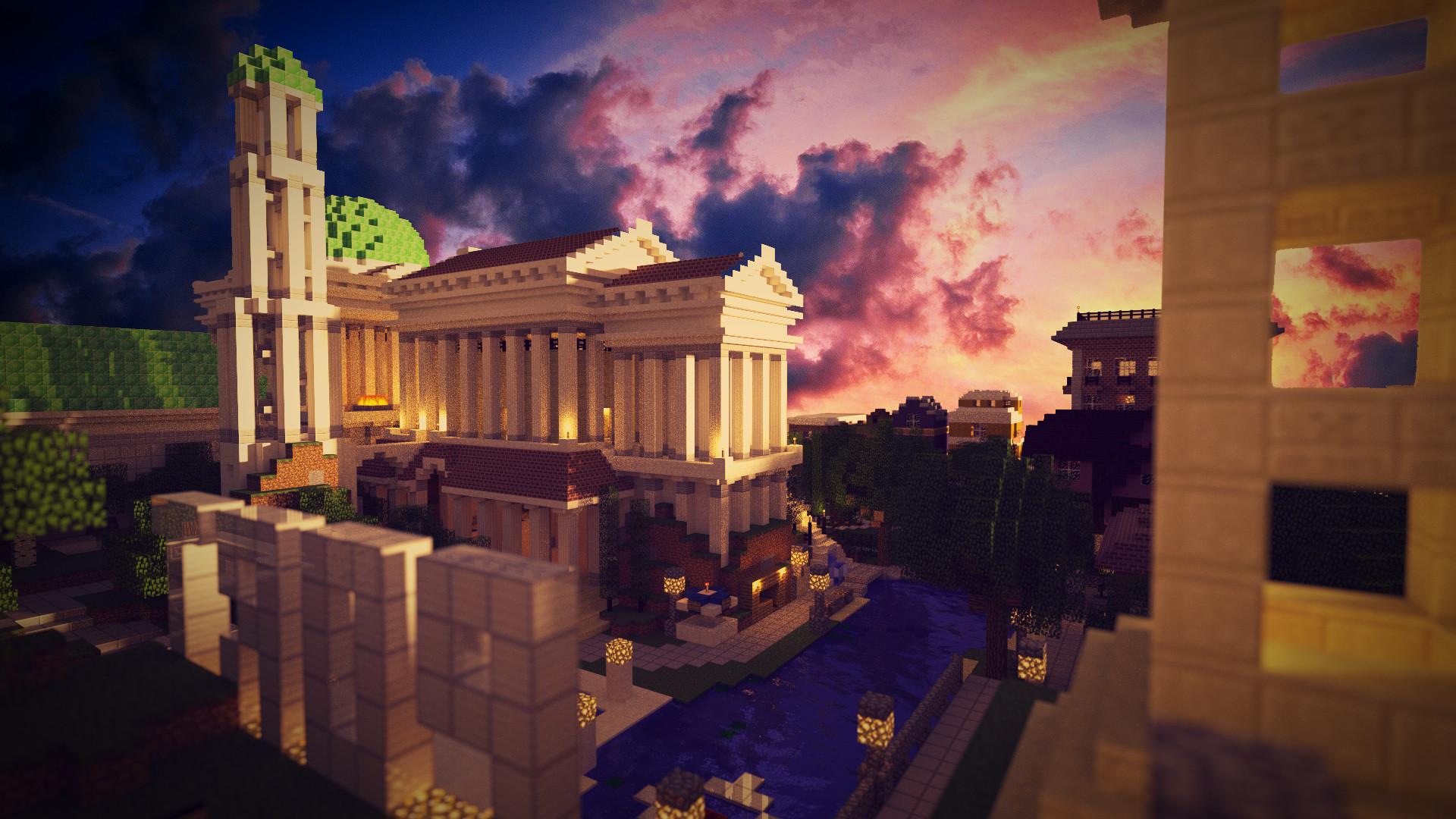 Fond Dcran Minecraft Temple Grec