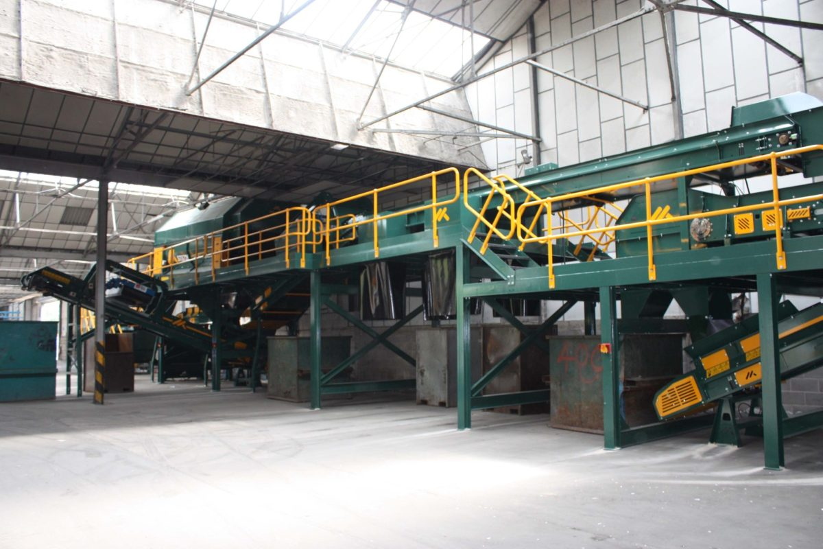 Co Mingled Waste Recycling Plant 3D Co mingled Waste with Glass Waste Recycling Plant