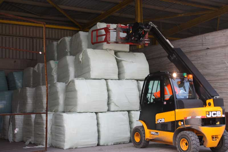 RDF bales in storage ready for RDF Exports. RDF exports have risen in the first four months of 2016