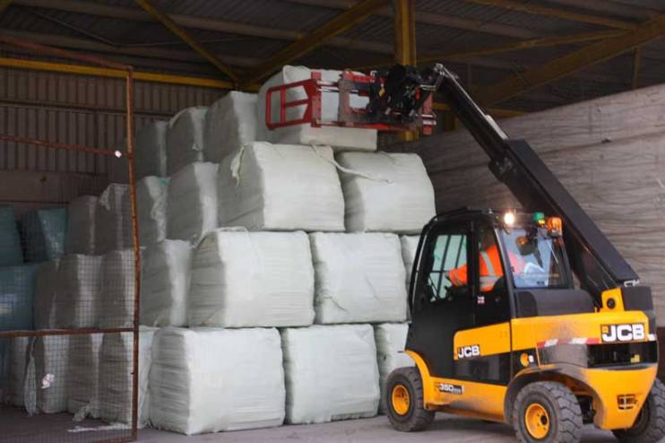 RDF bales in storage ready for RDF Exports