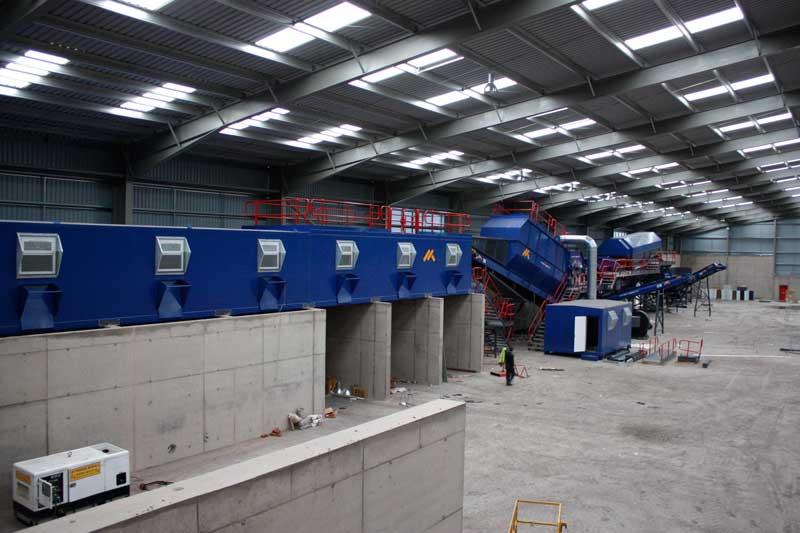 Hamilton Waste Recycling Inside Plant