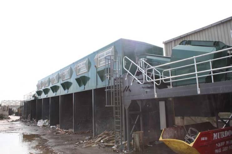 Skip Waste Recycling System Trommel & Picking Station
