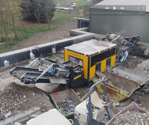 Waste Recycling Equipment Mobile Track Picking Station