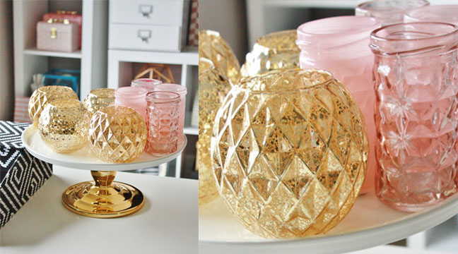 Gold & Pink Containers