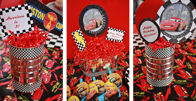 Lightning McQueen Birthday Party Table Top Decorations