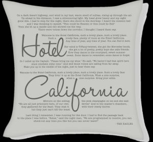 Hotel California dalszöveg