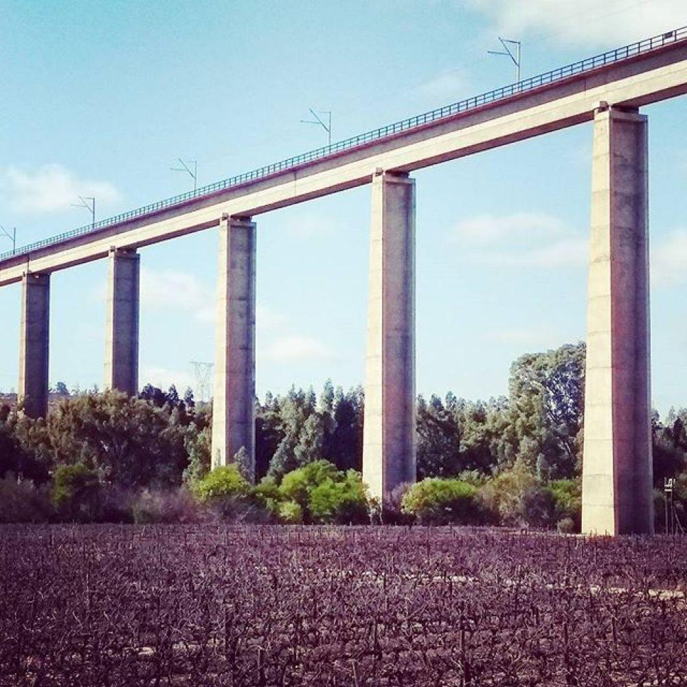 Iron ore train bridge