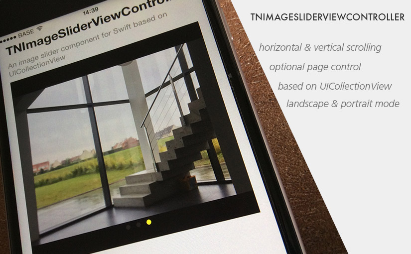 Image slider gallery for Swift - TNImageSliderViewController
