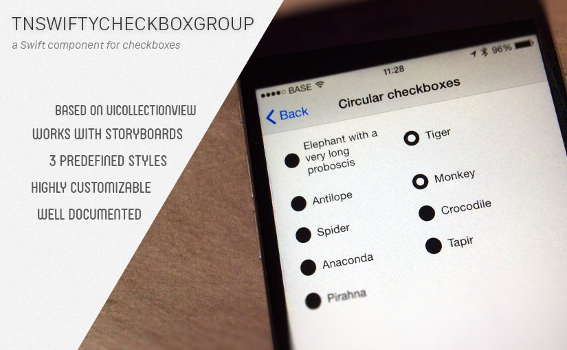TNSwiftyCheckboxGroup, create checkbox groups in Swift