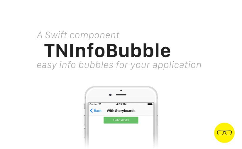 TNInfoBubble - Prisma app info bubble component - the-nerd