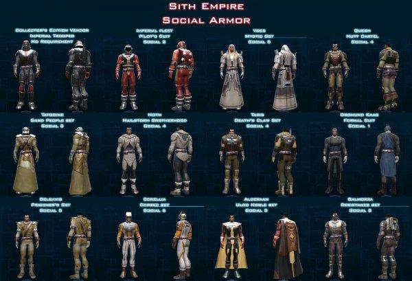 Social Armor: сеты для Империи