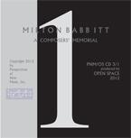 Babbitt Memorial Collection disc 1