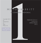 Milton Babbitt - A Composers' Memorial cd 1