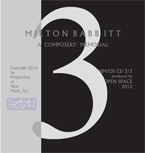 Milton Babbitt - A Composers' Memorial cd 3