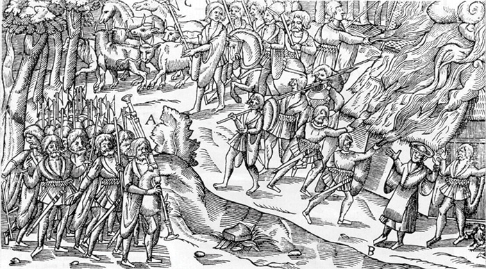 Fire and sword was a feature of Irish warfare over many centuries.