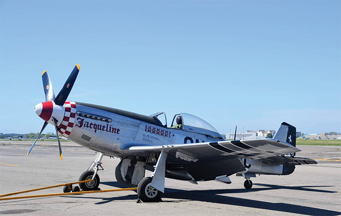 The P-51D Mustang. Initially a poor performer at high altitude, it was transformed into a powerful warplane following its fitting with a Rolls-Royce Merlin engine.