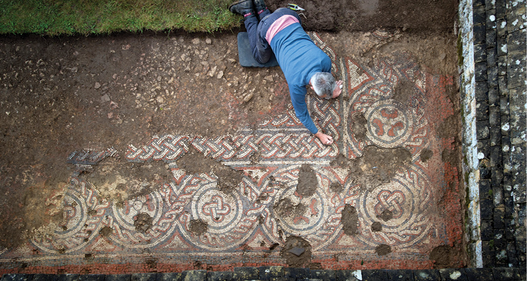 Britain's first 5th-century mosaic identified?