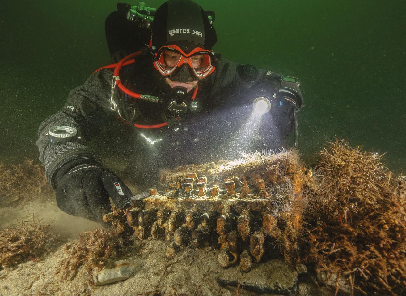 Rare WWII Enigma machine uncovered in the Baltic