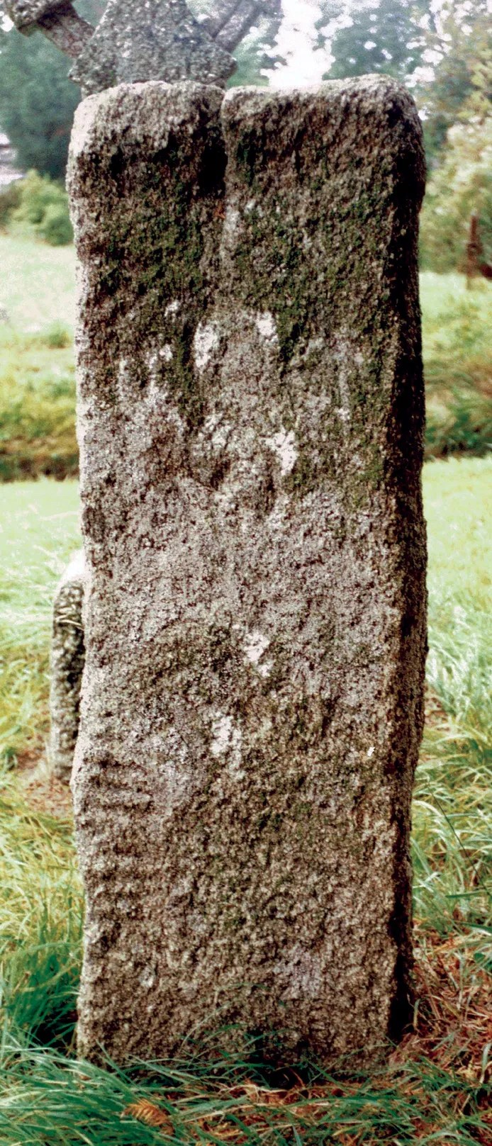 BELOW Lewannick (originally Lanwenuc, the church-site of St Wenuc, or Guenoc), in Cornwall, has two early 6th-century inscribed stones, one thought to commemorate Ingenuus, the other Ulcagnus. The use of ogham implies that both were Irish migrants.