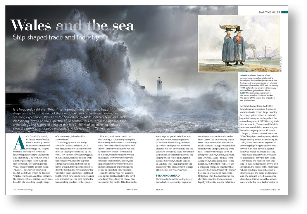 RIGHT Chris Catling took readers on a deep dive into the maritime heritage of Wales in CA 358.