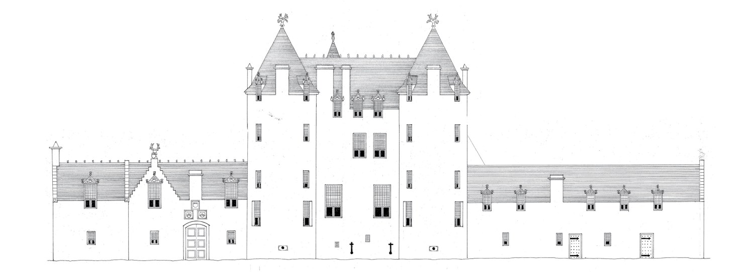 BELOW A reconstruction of the main façade of Inverugie Castle, near Peterhead.