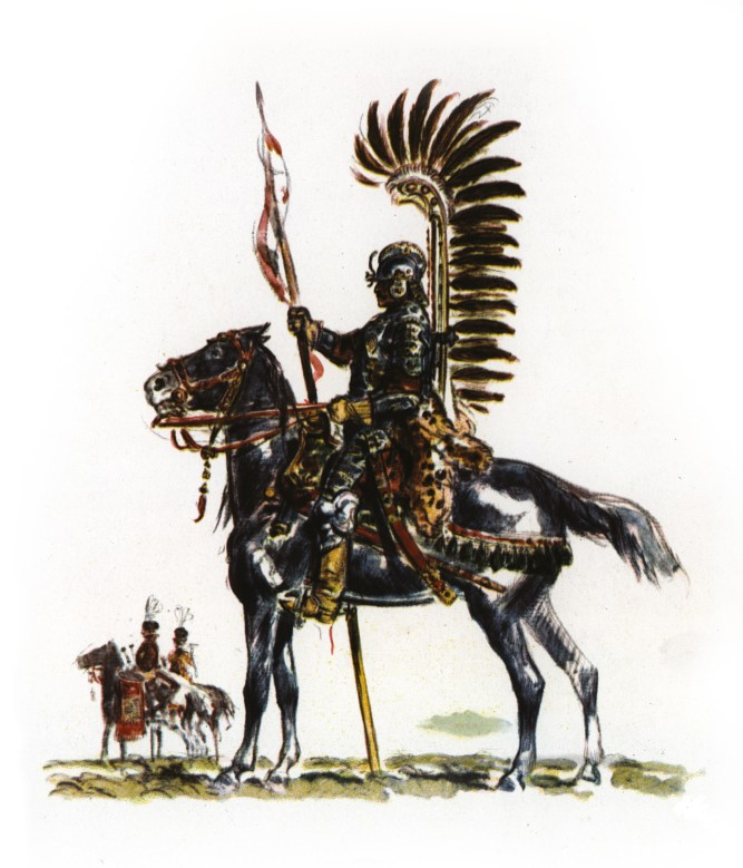 ABOVE Hetman Jan Karol Chodkiewicz (1561-1621), the veteran Polish-Lithuanian field commander at the Battle of Kircholm. RIGHT One of Chodkiewicz's elite strike force: the Polish Winged Hussars.