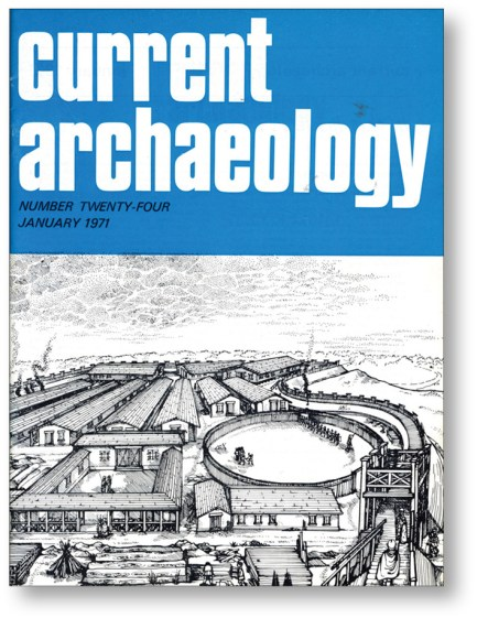 LEFT The cover of CA 24 featured an illustration of the Lunt, a Roman fort near Baginton.