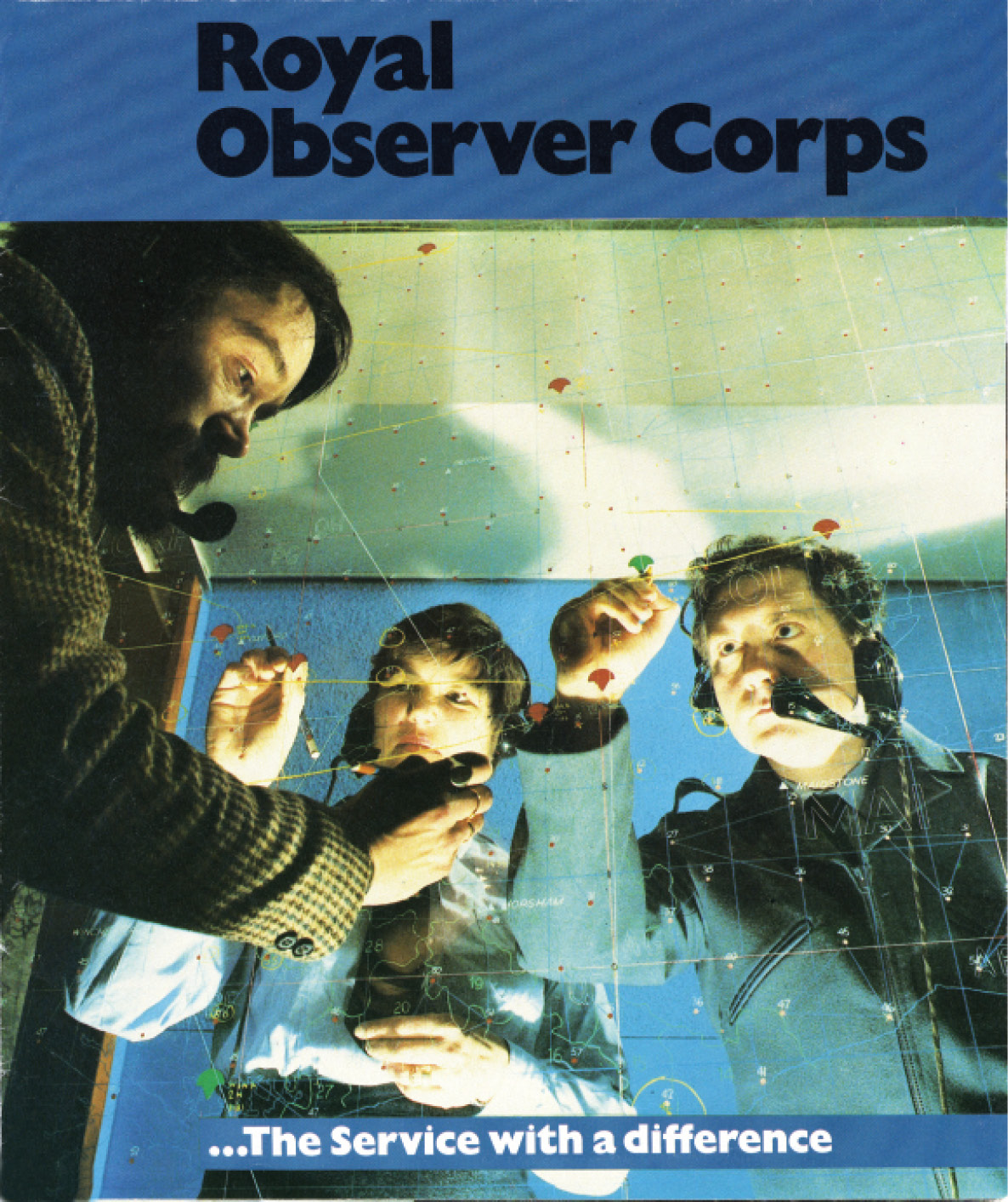 LEFT Motives for joining the Royal Observer Corps were diverse. This is the cover of a recruitment leaflet from 1983. BELOW The ROC recruited Observers of both sexes, and women rose to the highest levels within the organisation. This photograph shows a female Observer on visual reporting duties c.1950.