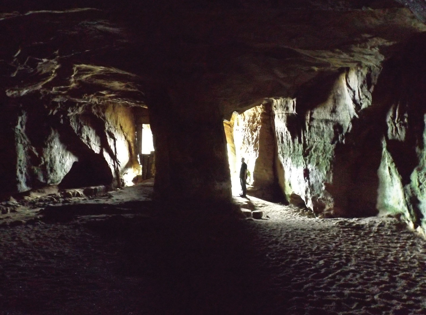 left The cave opens into strikingly regular twin entrance passages that give it an almost monumental appearance.