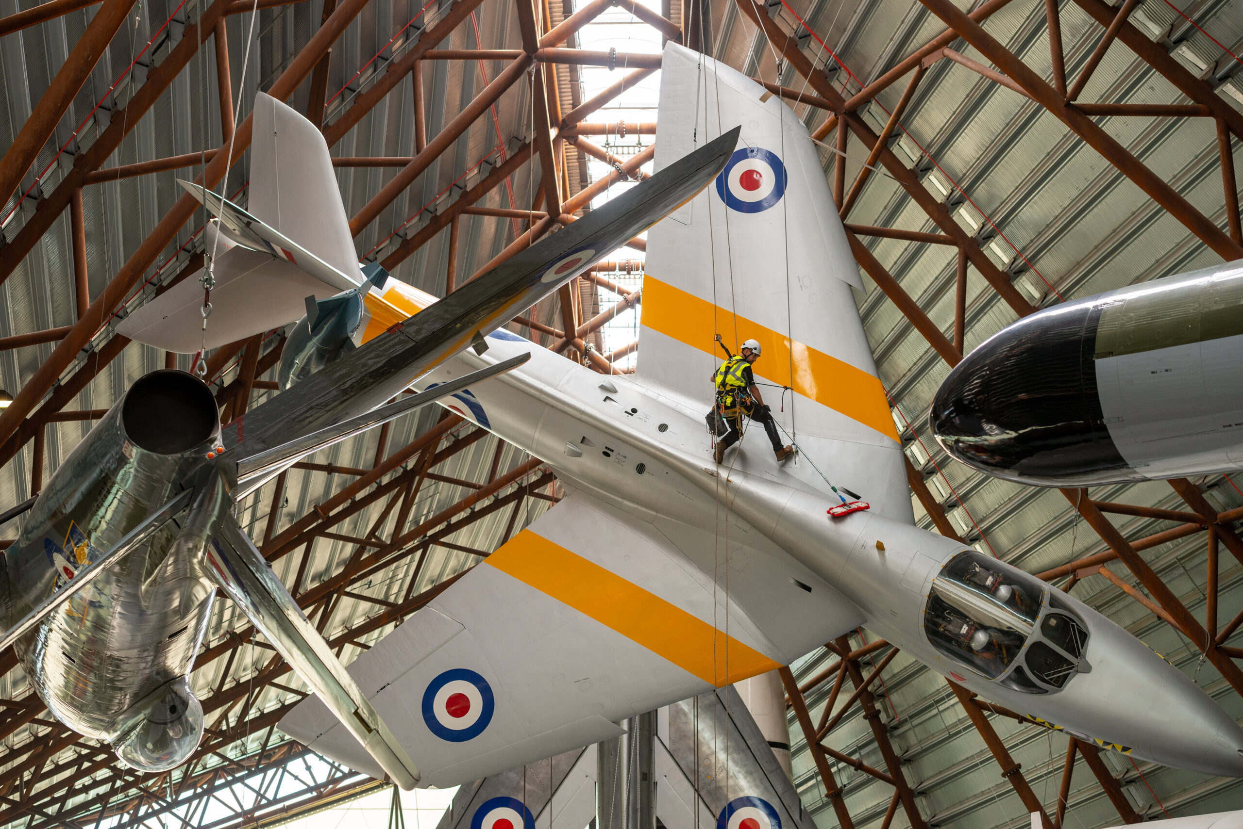 Aircraft at RAF museum get a spring clean