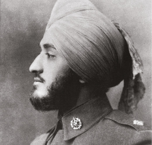 LEFT Group Captain Malik as a young man. He was one of just a handful of Indian pilots during the First World War.
