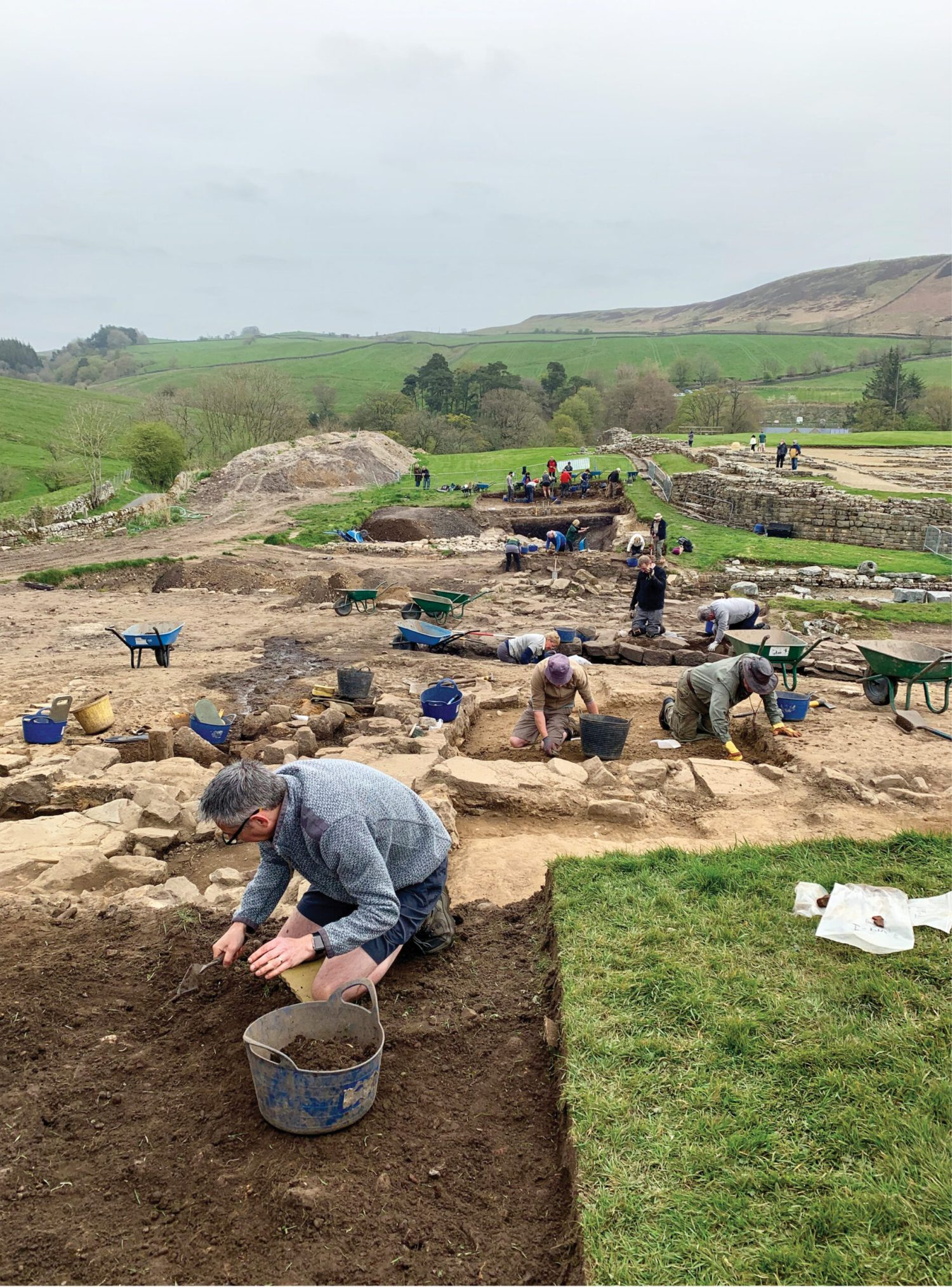 Above Overlooking the excavations at Vindolanda, an auxiliary fort just south of Hadrian's Wall.