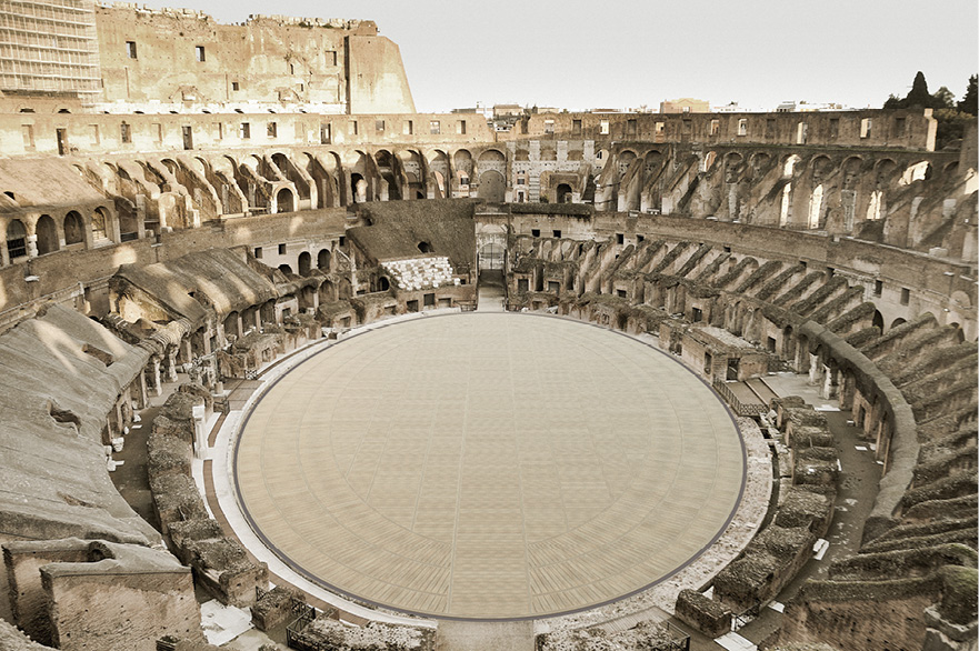 High-tech floor to be constructed in Rome's Colosseum