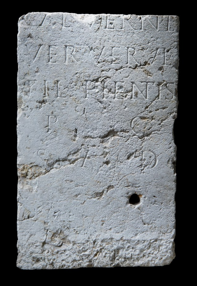 ABOVE A set of memorials allows us to examine the relationships in one particular family. The first in the series was set up by Verria Verula (named in the second line) for her son (LEFT). When the time came, Verula's epitaph was erected by her husband, Coius Astutus (RIGHT).