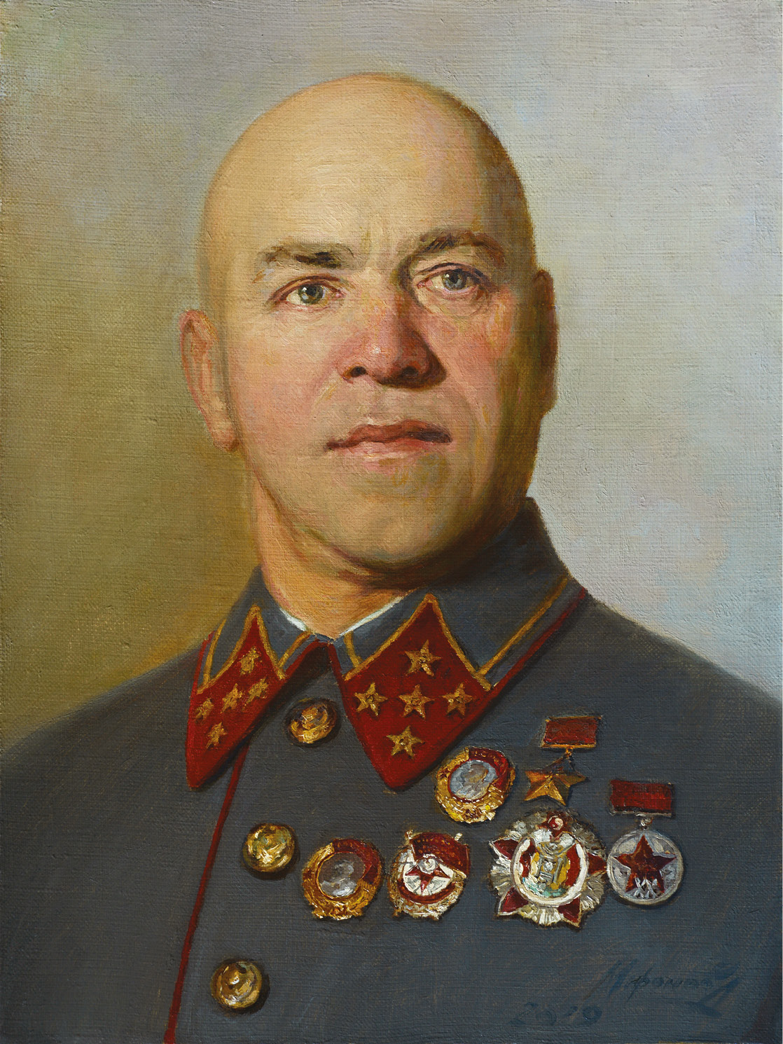 ABOVE left Marshal Georgy Zhukov (1896-1974), commander of 1st Belorussian Front. ABOVE RIGHT Marshal Ivan Koniev (1897-1973), commander of 1st Ukrainian Front. Zhukov and Koniev were competing for the honour of capturing the Nazi capital.