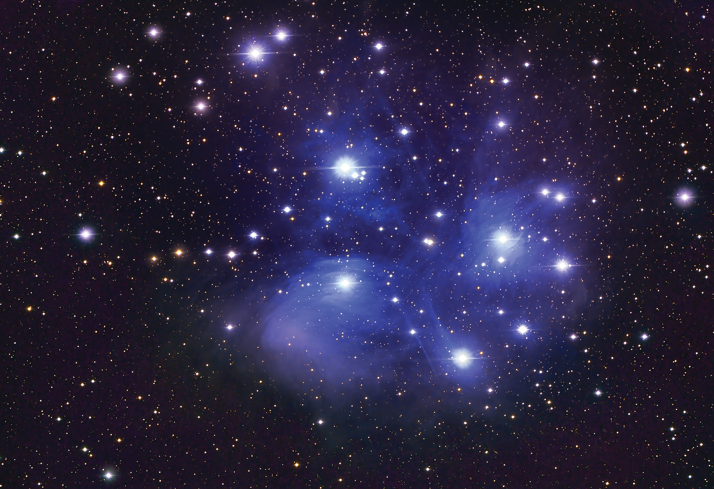left The Pleiades (or Seven Sisters) is a cluster of stars known in Hawaii as the Makali'i (little eyes). There, it marked the new year when it rose at sunset in November.